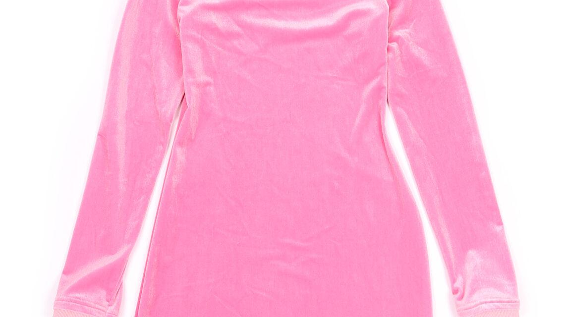 Mini-dress Pink Velour