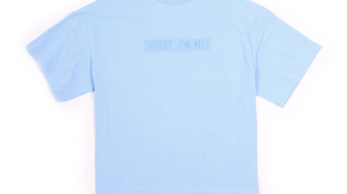 T-SHIRT BASIC SORRY BLUE