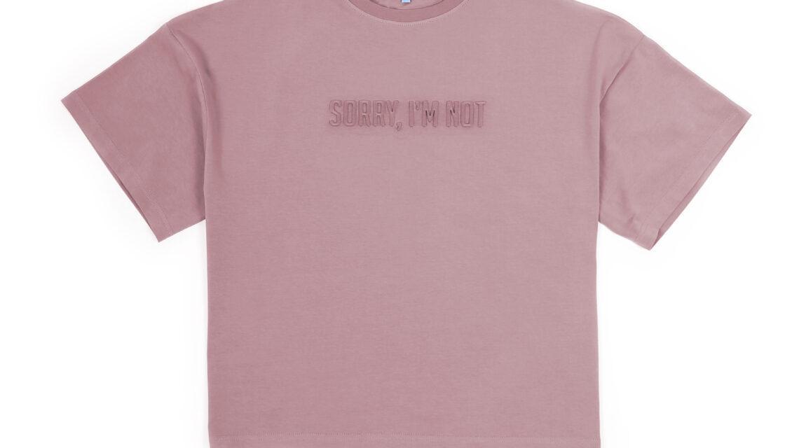 T-SHIRT BASIC SORRY PINK