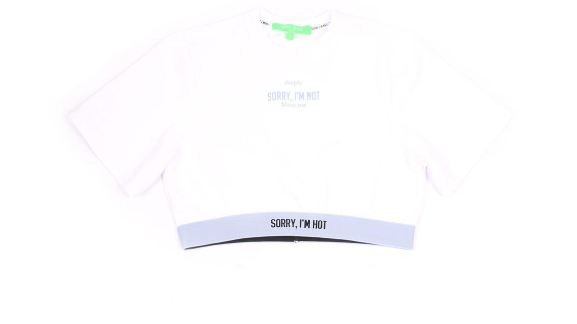 CROP-TOP White SORRY