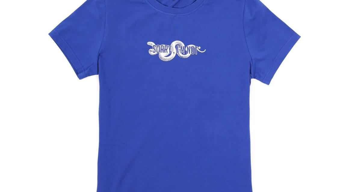 T-Shirt Snake Blue Women